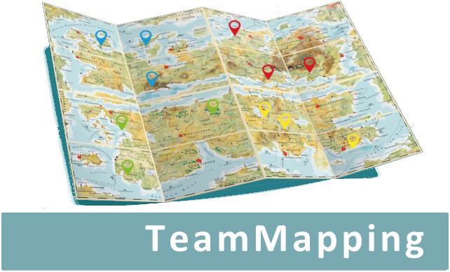 TeamMapping - De TeamMap toont in één oogopslag hoe een groep is samengesteld en welke gedragseigenschappen de deelnemers hebben.